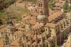 Vista aérea de  la catedral de Segovia